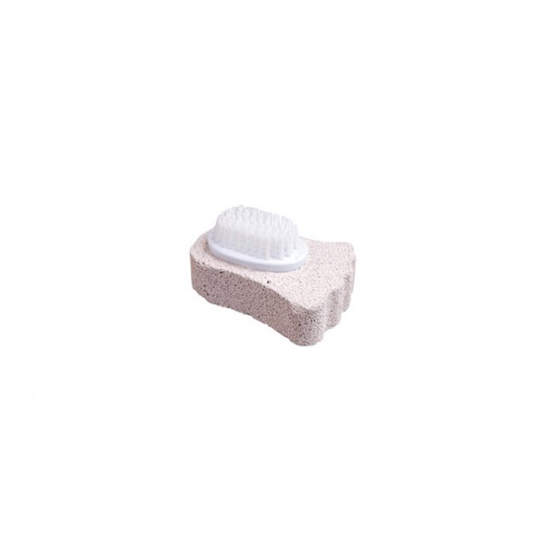 PUMICE STONE, FOOT SHAPED WITH BRUSH