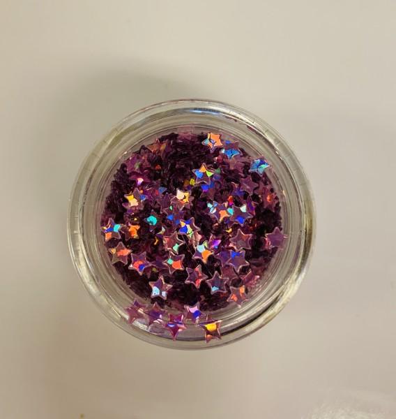 Glitterstars pink hologram