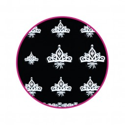 Nail Art Stickers White Crown Moon