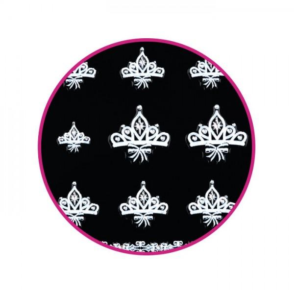 Nail Art Stickers White Crown Moon